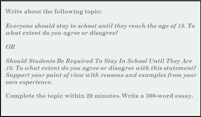Essay Writing: Should Students Be Required To Stay In School Until