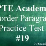 PTE Academic Practice Test 19 – Reorder Paragraphs