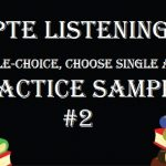 PTE Academic Listening Mock Test – Multiple-choice, Choose Single Answer