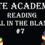 PTE Academic Practice Test 7- Reading (Fill In The Blanks)- Free