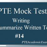 PTE Mock Test 14 – Writing (Summarize Written Text)