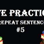 PTE Practice Test 5 – Speaking (Repeat Sentence)