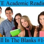 PTE Reading Practice Test 14 – Fill In The Blanks