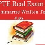 PTE Real Exam Question – Summarize Written Text 49