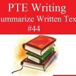 PTE Writing – Summarize Written Text Practice Sample 44