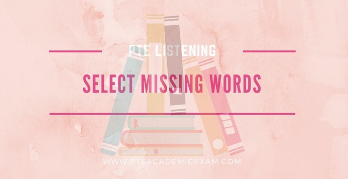Select missing words