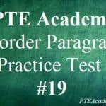 PTE Academic Practice Test 19 – Reorder Paragraphs