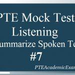 PTE Mock Test 7 – Listening (Summarize Spoken Text)