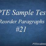 PTE Sample Test 21 – Reading (Reorder Paragraphs)