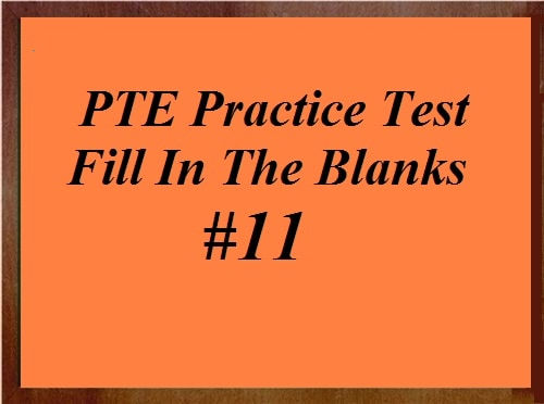 Fill Blanks Archives - PTE Academic Exam