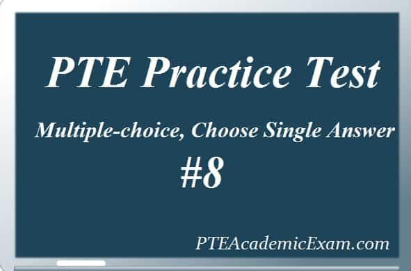 MCQ- Single Archives - PTE Academic Exam