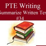 PTE Writing – Summarize Written Text Practice Sample 34