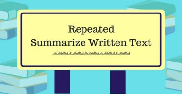 Repeated Summarize Written Text-1