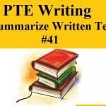 PTE Writing – Summarize Written Text Practice Sample 41